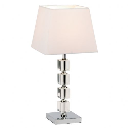 Acrylic Table Lamp With Cream Shade BX96940-TLCH-17 (Class 2 Double Insulated)